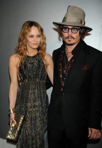 Johhny Depp et Vanessa Paradis en 2010