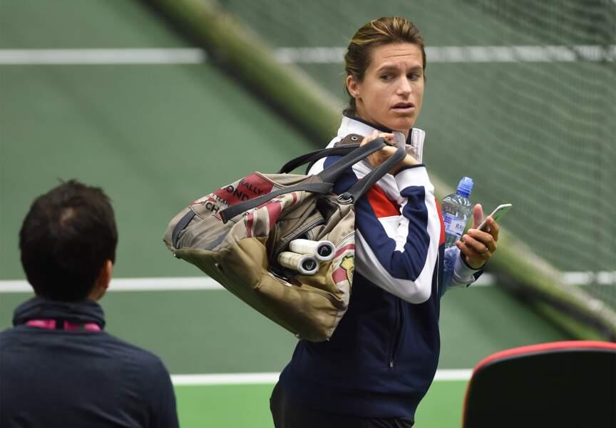 Elle troquera bientôt son sac de sport pour un sac àlanger