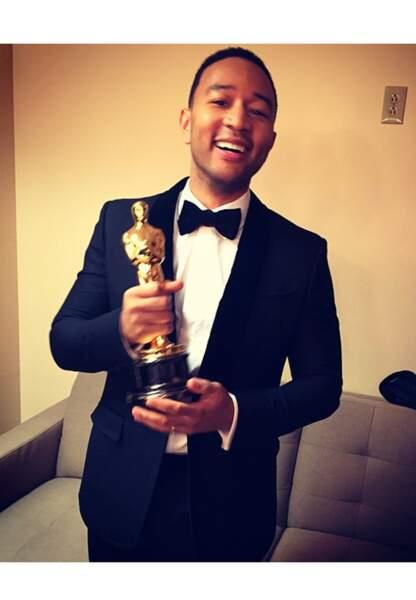 John Legend, Oscar à la main