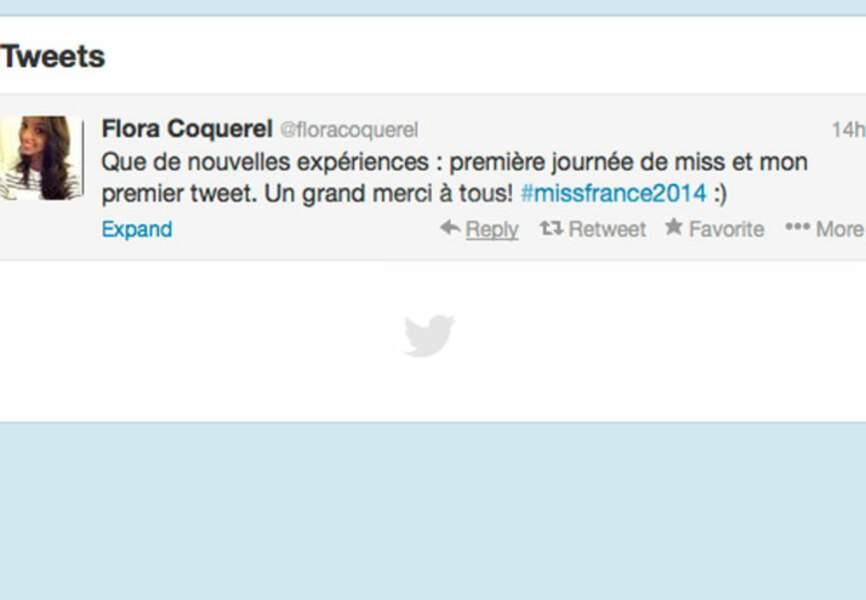 Premier tweet pour Miss France 2014