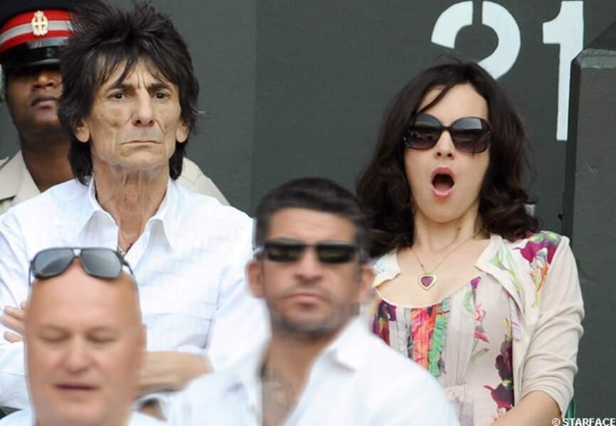 Ronnie Wood et son épouse