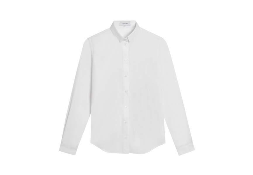 Alain Figaret, Chemise droite en popeline blanche, 129€