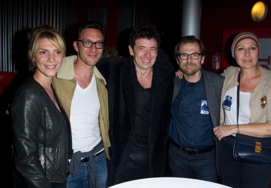 Avec l'équipe du Prénom lors du concert de Patrick Bruel