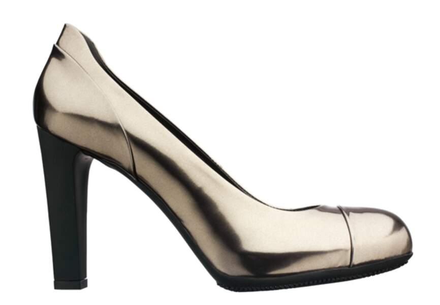 Hogan – Escarpins en cuir métallisé – 280€