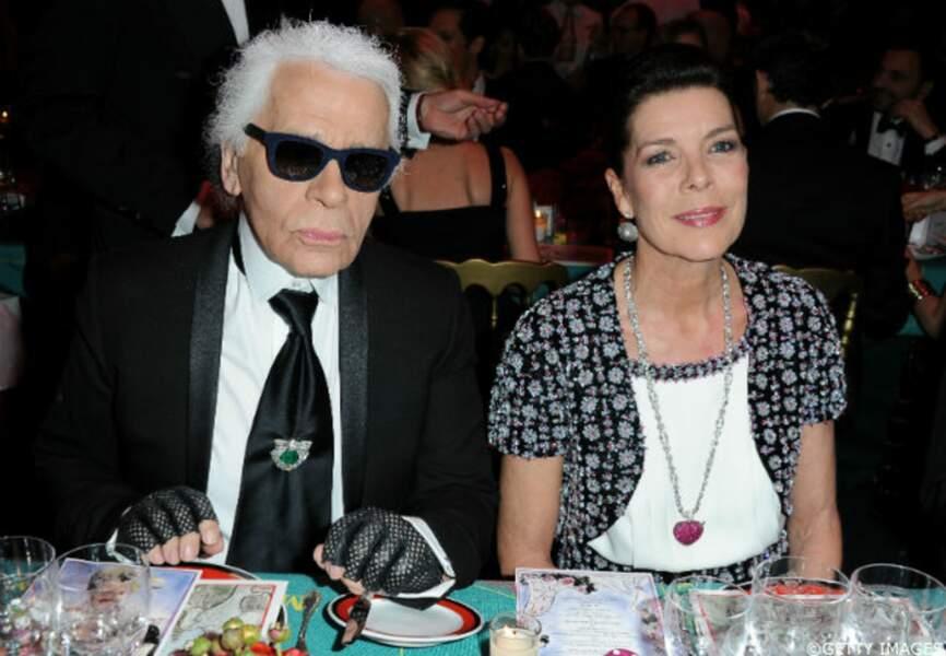 Caroline de Monaco et Karl Lagerfeld
