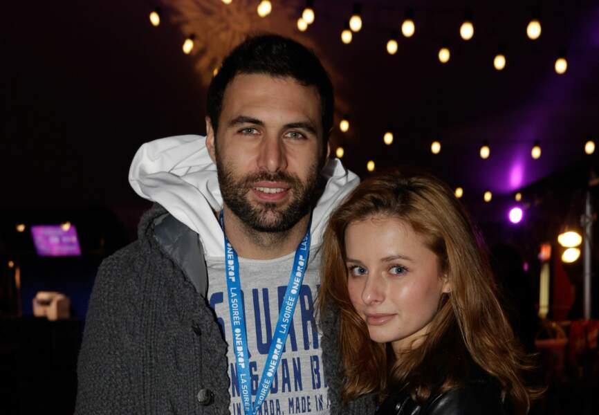 Salvatore Sirigu et sa femme Camille (PSG)