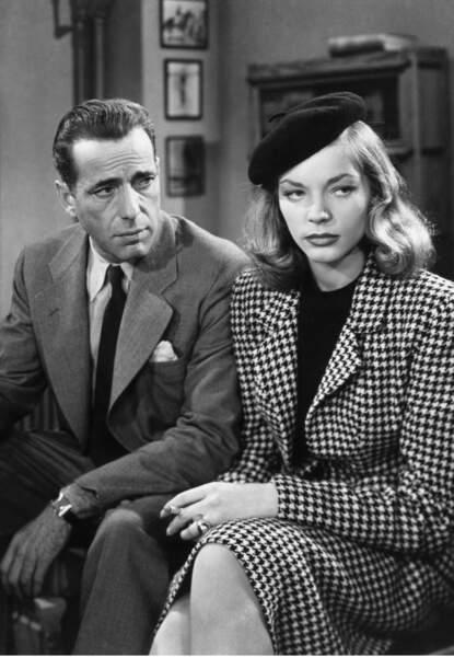Lauren Bacall et son mari Humphrey Bogart dans Le port de l'angoisse, le film qui a permis leur rencontre