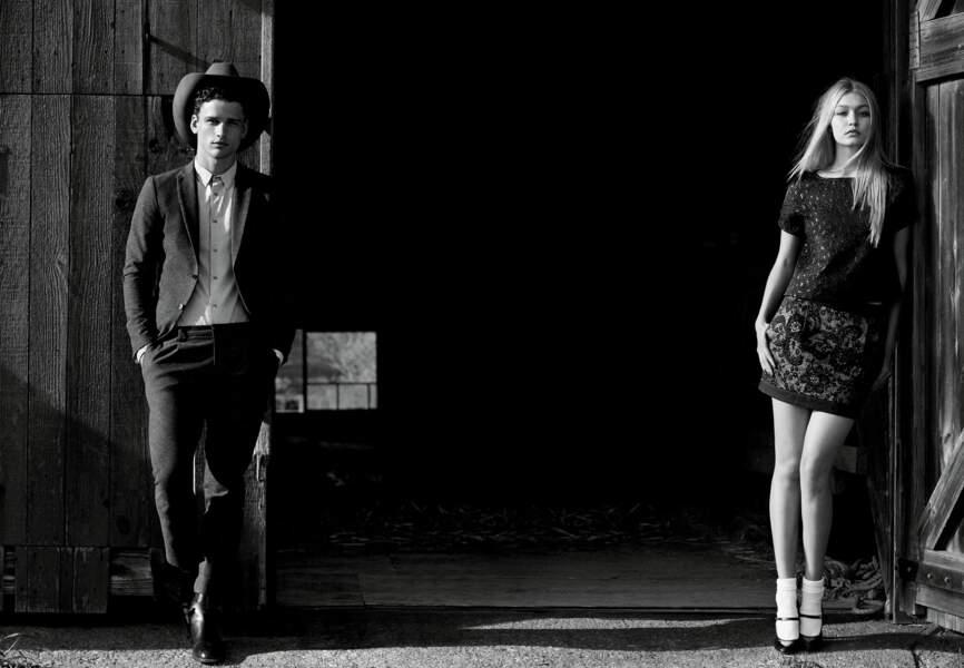 Simon Nessman, très Marlon Brando, et Gigi Hadid