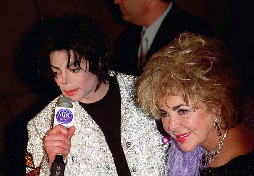 Liz Taylor marraine de Prince Michael et Paris Jackson