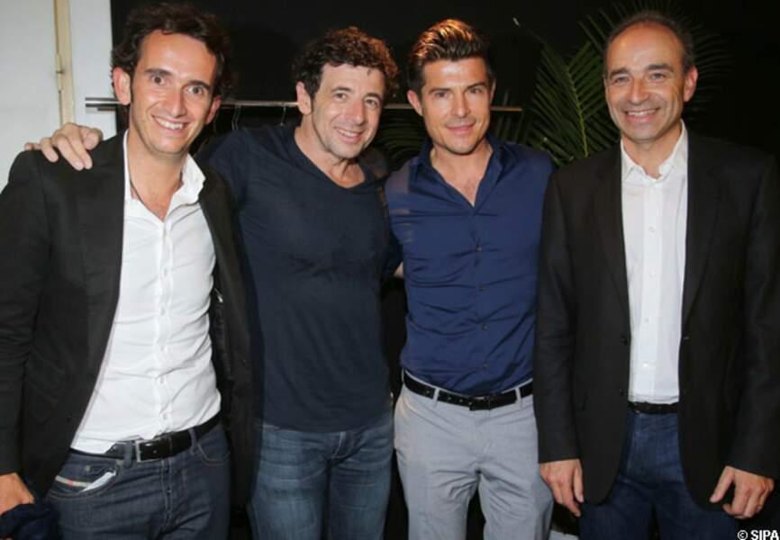 Alexandre Bompard, Patrick Bruel, Vincent Niclo et Jean-François Copé