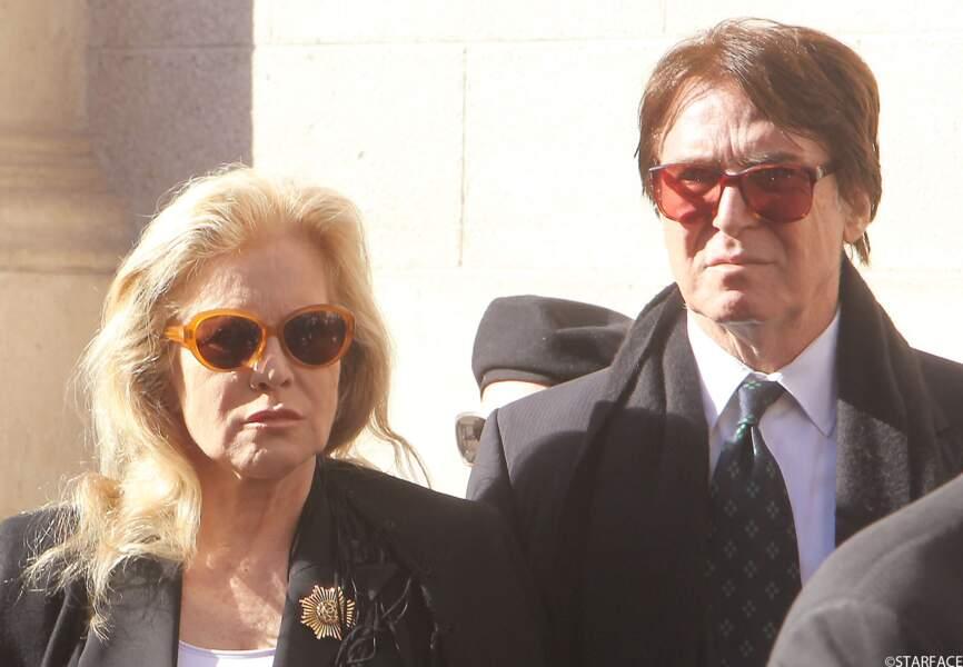 Sylvie Vartan (mère de David Hallyday) et son époux Tony Scotti