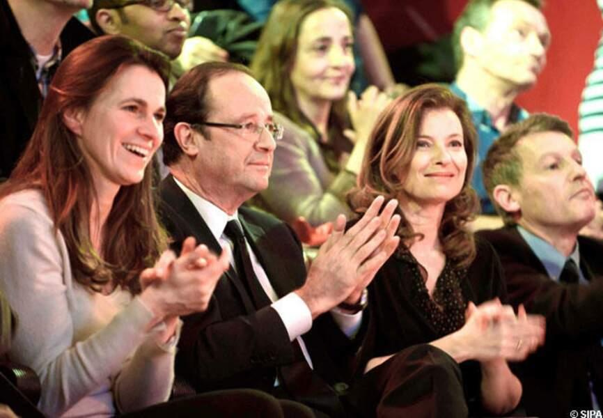 Valérie Trierweiler a toujours soutenu son compagnon en public