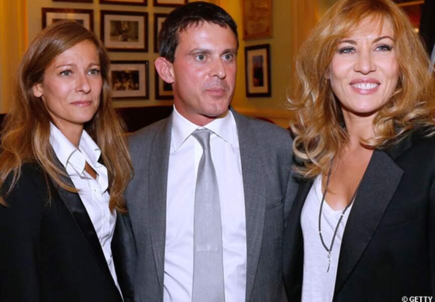 Manuel Valls et Anne Gravoin lors de la générale de Nina au théâtre Edouard VII