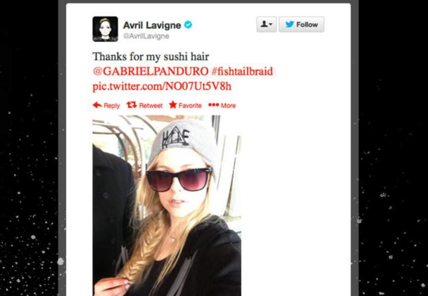 "Avril Lavigne et sa coupe ""sushi hair"""
