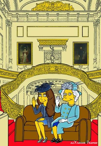 Happening pour Elizabeth II auprès de Princesse Kate