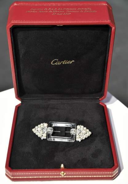 Pour la Princesse Gabriella une broche de ceinture datant de 1925, moderne, géométrique et épurée