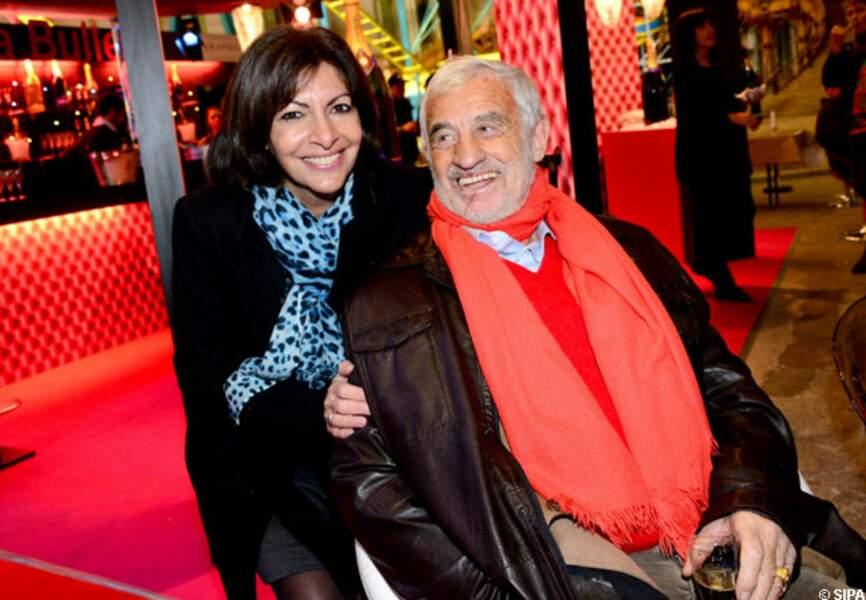 Anne Hidalgo et Jean-Paul Belmondo