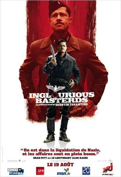 Brad Pitt dans Inglorious Basterds de Quentin Tarantino en 2009
