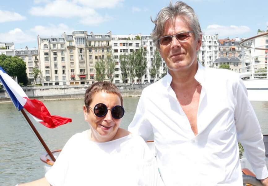 Dominique Desseigne (PDG du Groupe Lucien Barrière) et Nicole Rubi (patronne de la Petite Maison)