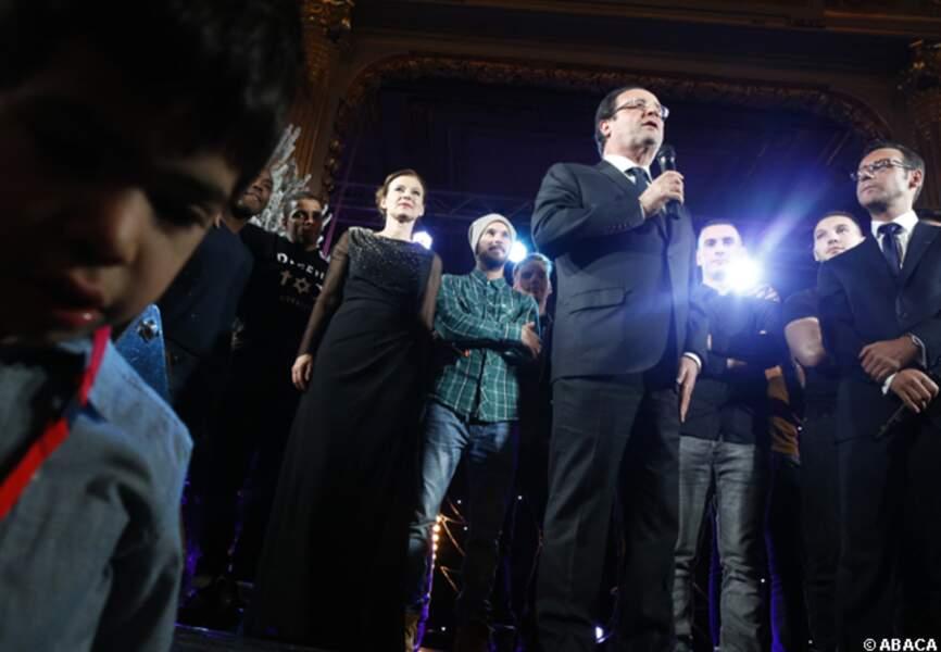 François Hollande a pris la parole pendant les festivités
