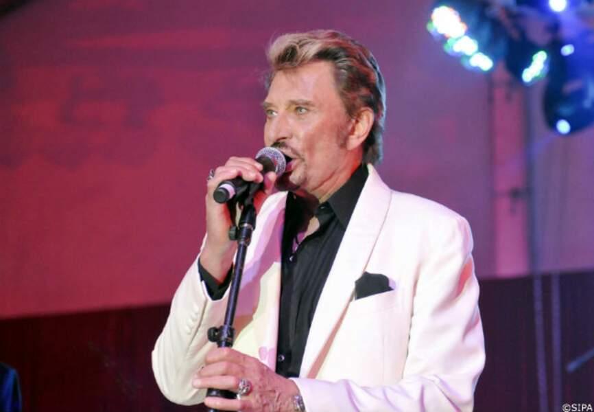 Johnny Hallyday chante pour l'anniversaire de Christian Audigier