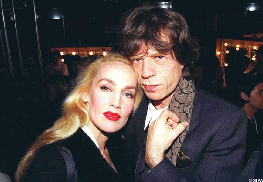Mick Jagger et Jerry Hall, amoureux fous