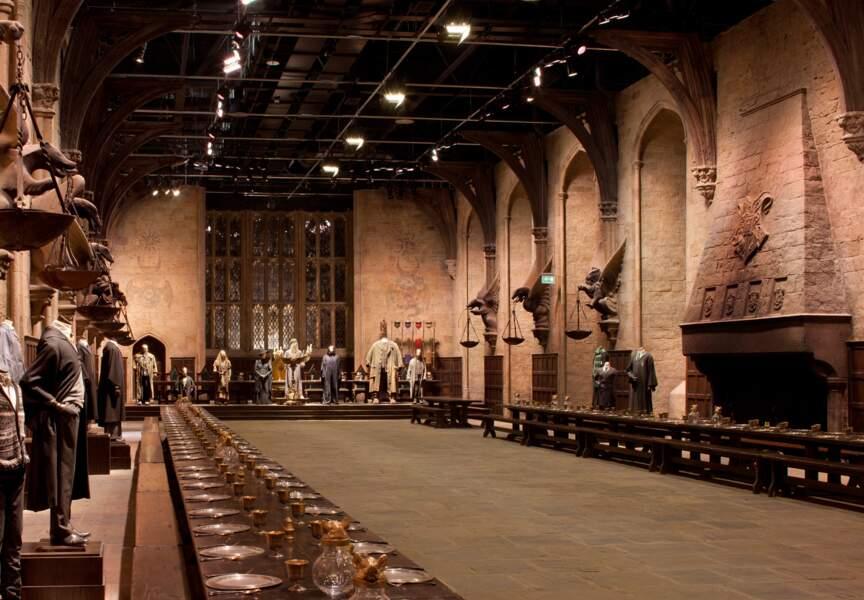 Une fois arrivé au château de Poudlard, l'imposante Grande Salle accueille les nouveaux venus