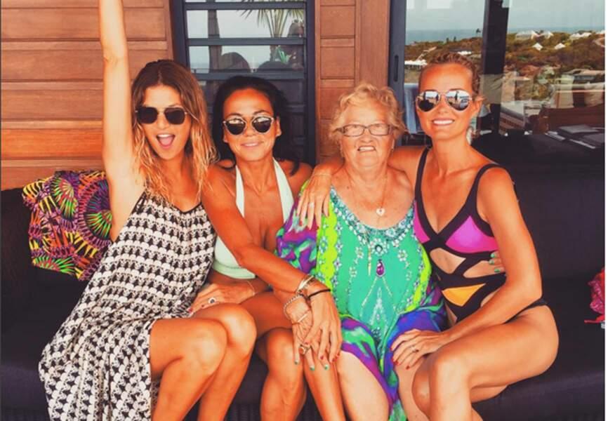Isabelle Funaro, Sandra Zeitoun de Matteis, Laeticia Hallyday et Élyette Boudou, grand-mère paternelle de Laeticia