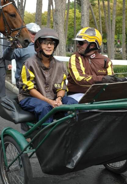 Estelle Denis lors d'une course de charité à Vincennes