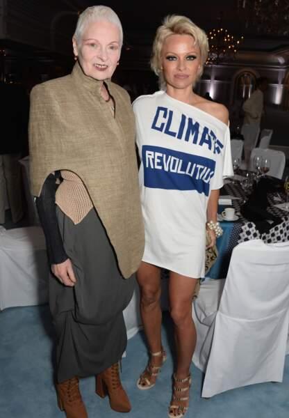 Vivienne Westwood et Pamela Anderson
