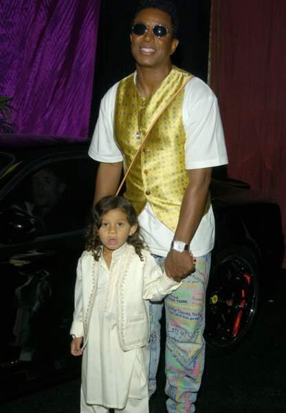 Le champion toute catégorie du prénom hors-norme: Jermajesty, né le 3 octobre 2000, avec son père Jermaine Jackson