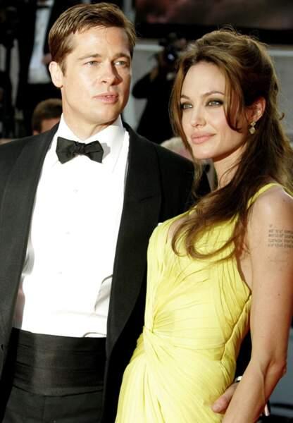 Brad Pitt et Angelina Jolie au festival de Cannes en 2007