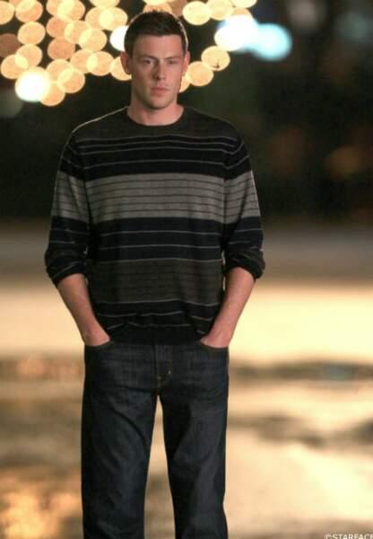 En août 2012 sur le tournage de la série Glee