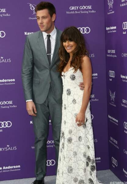 Cory Monteith pose avec sa compagne Lea Michele, elle aussi actrice