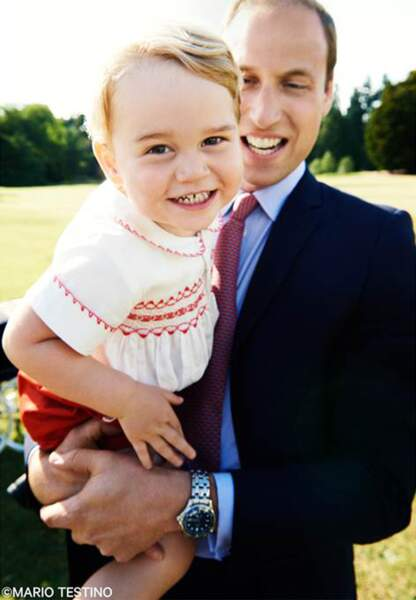 La dernière photo officielle de baby George et le prince William