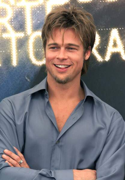 Brad Pitt sur le tapis rouge de Fight Club en 1999