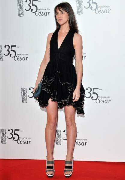 Charlotte Gainsbourg aux César en 2010