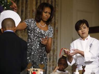 Photos - Michelle Obama au secours d'une fillette