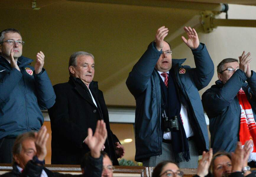 Albert II lors du match Monaco-PSG