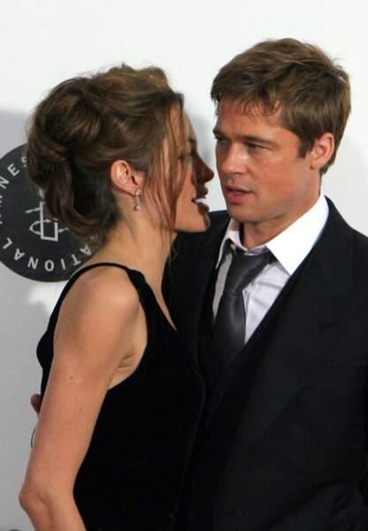 Brad Pitt et Angelina Jolie amoureux comme jamais, à New York en 2007