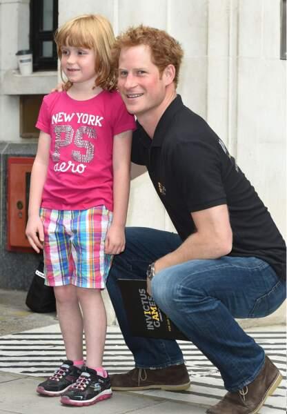 Prince Harry en visite dans les locaux de la BBC, fin juillet.