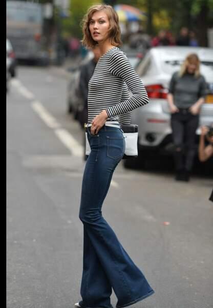 Karlie Kloss sixties style dans la rue