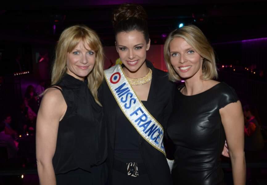 Sandrine Corman, Marine Lorphelin et Sylvie Thellier