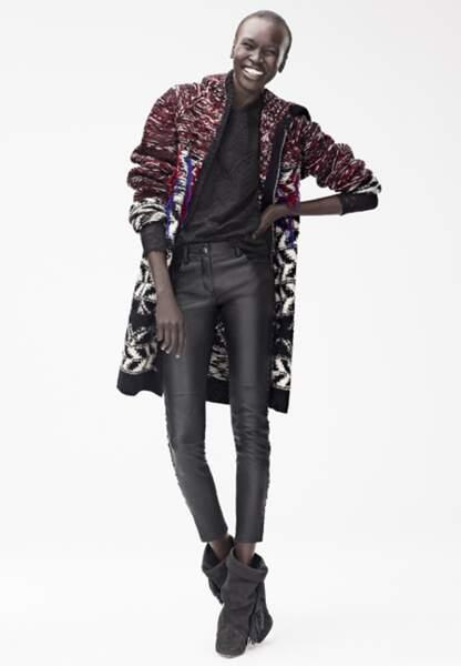 Alek Wek en Isabel Marant pour H&M