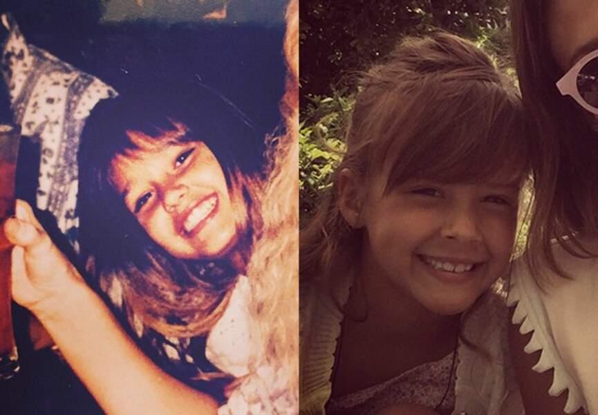 A gauche Jessica Alba au même âge que sa fille Honor Marie, bluffant non?