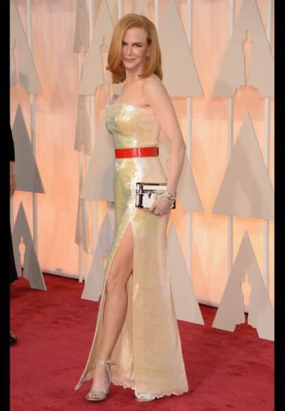 Nicole Kidman en Louis Vuitton, bijoux Harry Winston