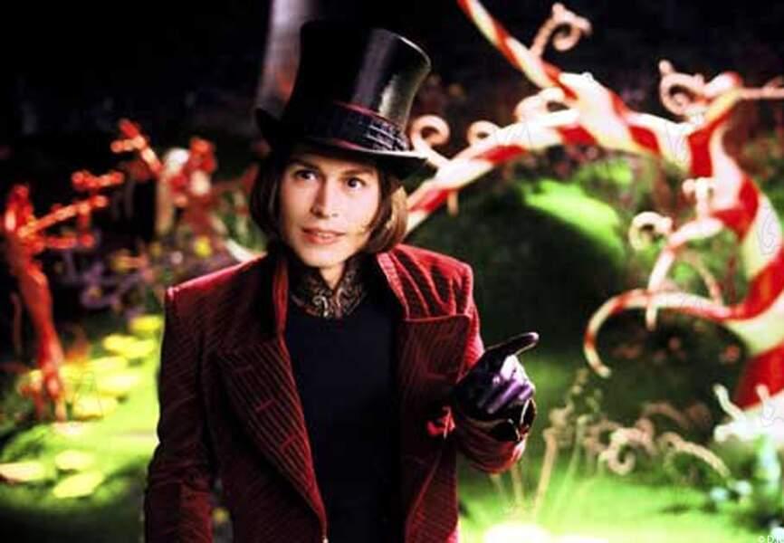 Willy Wonka, dans Charlie et la chocolaterie