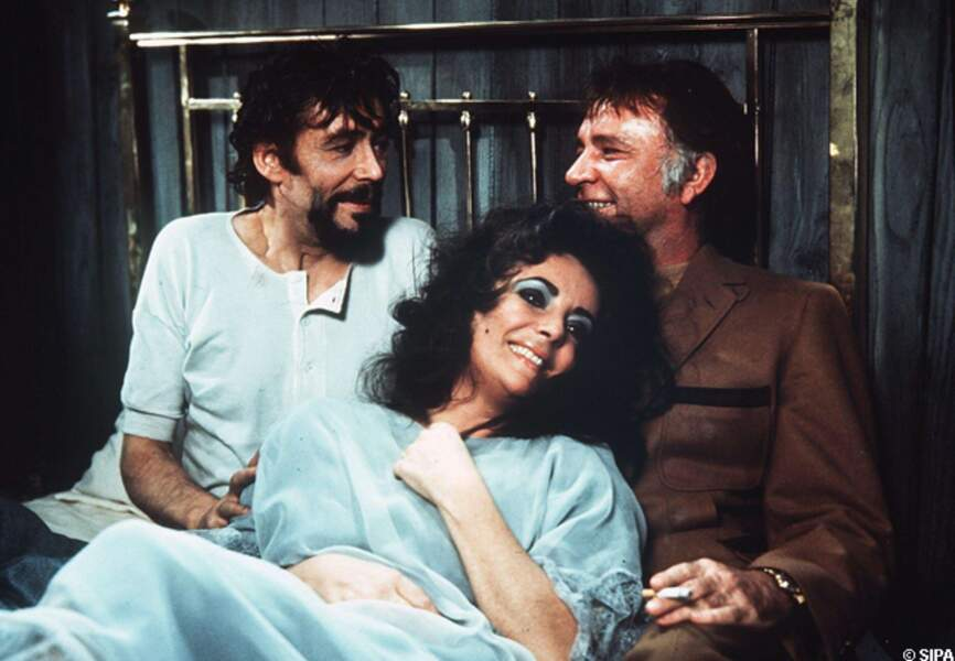 Peter O'Toole , Elizabeth Taylor et Richard Burton dans Under milk wood en 1972