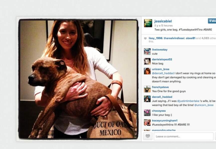 Jessica Biel l'amie des bêtes