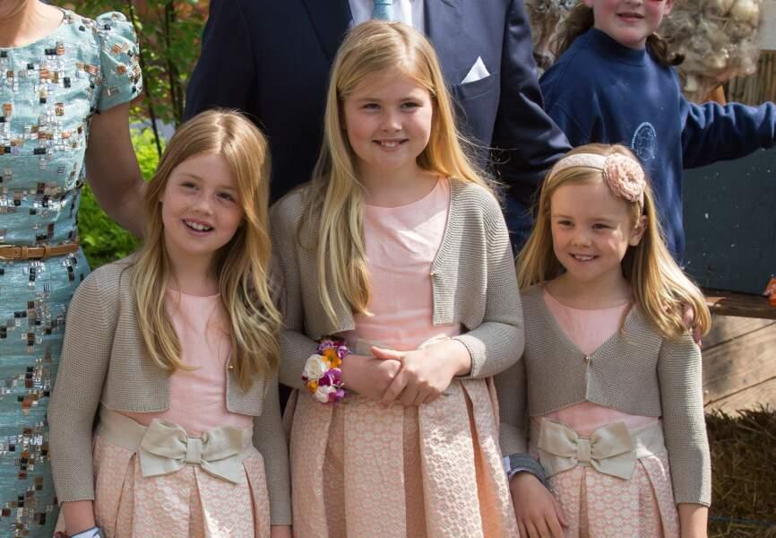 Ariane des Pays-Bas (née en avril 2007), Catharina Amalia (née en décembre 2003), Alexia ( juin 2005)